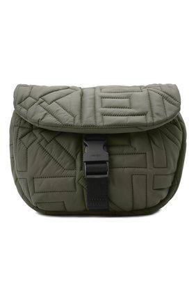Женская сумка arctik KENZO хаки цвета, арт. FB52SA008F08 | Фото 1 (Материал: Текстиль; Сумки-технические: Сумки через плечо; Размер: small; Ремень/цепочка: На ремешке)