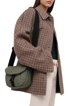 Женская сумка arctik KENZO хаки цвета, арт. FB52SA008F08 | Фото 2 (Материал: Текстиль; Сумки-технические: Сумки через плечо; Размер: small; Ремень/цепочка: На ремешке)