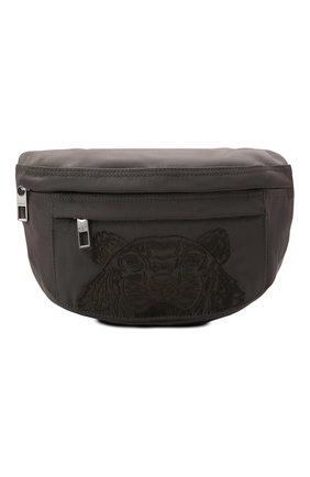 Женская поясная сумка kampus KENZO хаки цвета, арт. FA65SF305F20 | Фото 1 (Материал: Текстиль; Стили: Спорт; Застежка: Молния; Размер: medium; Ремень/цепочка: На ремешке)