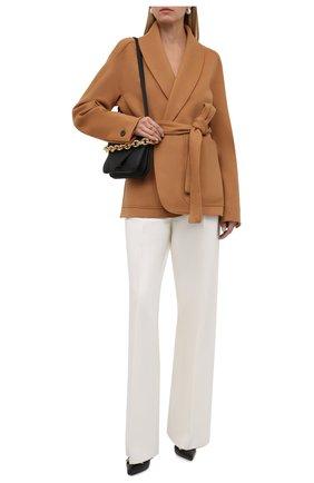 Женские шерстяные брюки ZEGNA COUTURE белого цвета, арт. 287149/630SNN   Фото 2 (Материал внешний: Шерсть; Длина (брюки, джинсы): Удлиненные; Женское Кросс-КТ: Брюки-одежда; Стили: Кэжуэл; Силуэт Ж (брюки и джинсы): Широкие)