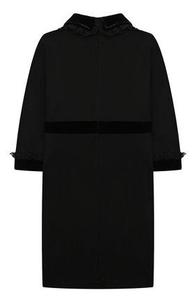 Детское платье из вискозы DAN MARALEX черного цвета, арт. 252273319 | Фото 2 (Материал внешний: Вискоза, Синтетический материал; Рукава: Длинные; Девочки Кросс-КТ: Платье-одежда; Случай: Повседневный)