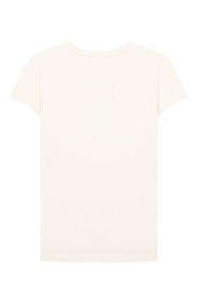 Детская хлопковая футболка POLO RALPH LAUREN кремвого цвета, арт. 312853435 | Фото 2 (Рукава: Короткие; Материал внешний: Хлопок)