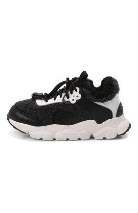 Детские кроссовки NATURINO черно-белого цвета, арт. 0012016211/02/33-38 | Фото 2 (Материал внутренний: Текстиль, Натуральная кожа; Материал внешний: Текстиль; Стили: Гранж)