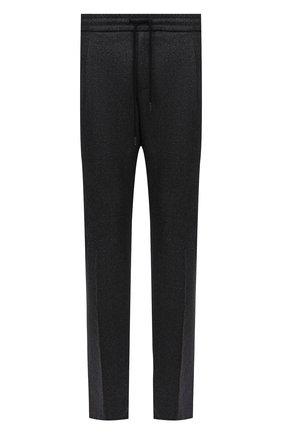 Мужские брюки из шерсти и хлопка ANDREA CAMPAGNA темно-серого цвета, арт. SPIAGGIA RETR0/GB1674 | Фото 1 (Материал внешний: Шерсть; Материал подклада: Синтетический материал; Стили: Кэжуэл; Случай: Повседневный; Длина (брюки, джинсы): Стандартные)