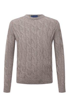 Мужской кашемировый свитер ANDREA CAMPAGNA бежевого цвета, арт. WU22-9321-F100 | Фото 1 (Материал внешний: Шерсть, Кашемир; Рукава: Длинные; Длина (для топов): Стандартные; Мужское Кросс-КТ: Свитер-одежда; Стили: Кэжуэл; Принт: Без принта)