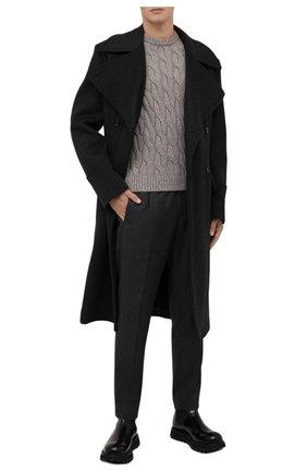 Мужской кашемировый свитер ANDREA CAMPAGNA бежевого цвета, арт. WU22-9321-F100 | Фото 2 (Материал внешний: Шерсть, Кашемир; Рукава: Длинные; Длина (для топов): Стандартные; Мужское Кросс-КТ: Свитер-одежда; Стили: Кэжуэл; Принт: Без принта)