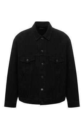 Мужская джинсовая куртка BALENCIAGA черного цвета, арт. 675206/TEW05 | Фото 1 (Длина (верхняя одежда): Короткие; Рукава: Длинные; Материал внешний: Хлопок; Кросс-КТ: Деним, Куртка; Стили: Гранж)