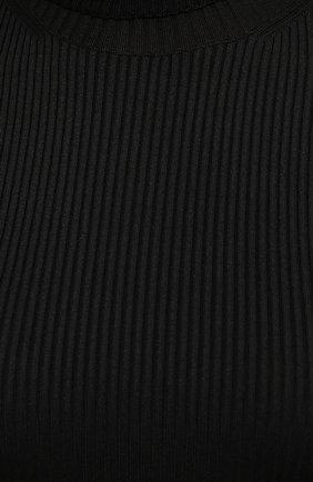 Женская водолазка BALENCIAGA черного цвета, арт. 675344/T6193   Фото 5 (Женское Кросс-КТ: Водолазка-одежда; Рукава: Длинные; Материал внешний: Синтетический материал; Длина (для топов): Стандартные; Стили: Спорт-шик)