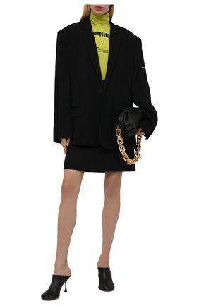 Женский жакет из вискозы BALENCIAGA черного цвета, арт. 674431/TJ025 | Фото 2 (Длина (для топов): Удлиненные; Материал внешний: Вискоза; Рукава: Длинные; Материал подклада: Купро; Женское Кросс-КТ: Жакет-одежда; Стили: Кэжуэл; 1-2-бортные: Однобортные)