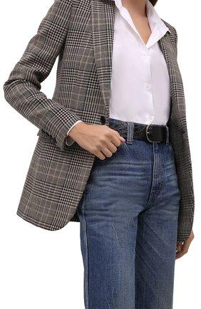Женский кожаный ремень LORO PIANA черного цвета, арт. FAL8224/CCR0   Фото 2