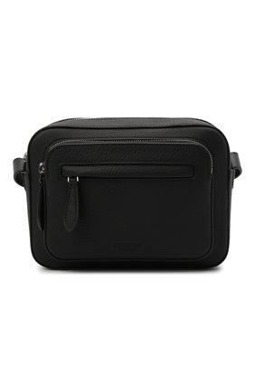 Мужская кожаная сумка olympia paddy BURBERRY черного цвета, арт. 8043712 | Фото 1 (Материал: Натуральная кожа; Ремень/цепочка: На ремешке)