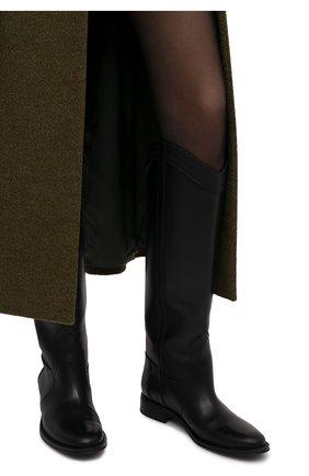 Женские кожаные сапоги kate 30  SAINT LAURENT черного цвета, арт. 669093/18T00 | Фото 2 (Каблук высота: Низкий; Подошва: Плоская; Высота голенища: Высокие; Материал внутренний: Натуральная кожа; Каблук тип: Устойчивый)