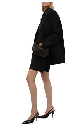 Женские кожаные туфли SAINT LAURENT черного цвета, арт. 670677/2YZ00 | Фото 2 (Каблук высота: Высокий; Материал внутренний: Натуральная кожа; Подошва: Плоская; Каблук тип: Шпилька)