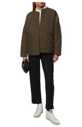 Женские кожаные кеды sl/06 SAINT LAURENT белого цвета, арт. 672909/00ND0 | Фото 2 (Подошва: Платформа; Материал внутренний: Натуральная кожа; Кросс-КТ: хайтопы)