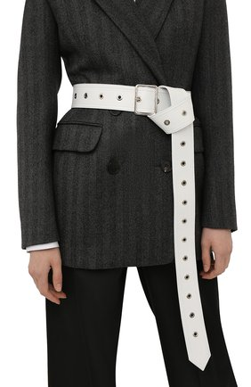 Женский кожаный ремень ALEXANDER MCQUEEN белого цвета, арт. 681558/1BR17 | Фото 2