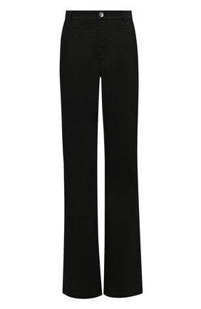 Женские джинсы RAF SIMONS черного цвета, арт. 212-W300-10032   Фото 1 (Материал внешний: Хлопок; Длина (брюки, джинсы): Удлиненные; Кросс-КТ: Деним; Силуэт Ж (брюки и джинсы): Расклешенные; Стили: Кэжуэл)