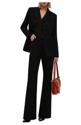 Женские джинсы RAF SIMONS черного цвета, арт. 212-W300-10032   Фото 2 (Материал внешний: Хлопок; Длина (брюки, джинсы): Удлиненные; Кросс-КТ: Деним; Силуэт Ж (брюки и джинсы): Расклешенные; Стили: Кэжуэл)