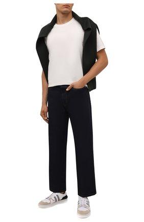 Мужские кожаные кеды LANVIN белого цвета, арт. FM-SKDK00-REFL-H21 | Фото 2 (Материал внутренний: Натуральная кожа, Текстиль; Подошва: Массивная)