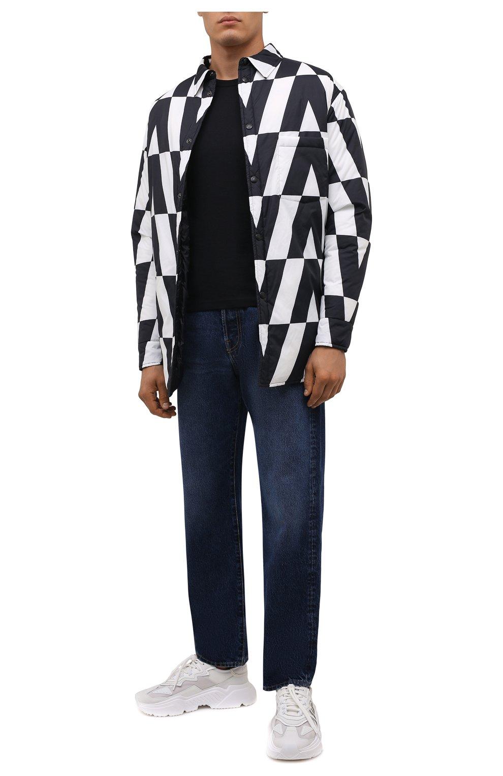 Мужские комбинированные кроссовки daymaster DOLCE & GABBANA белого цвета, арт. CS1941/AQ354 | Фото 2 (Материал внешний: Текстиль; Материал внутренний: Натуральная кожа; Стили: Гранж; Подошва: Массивная)