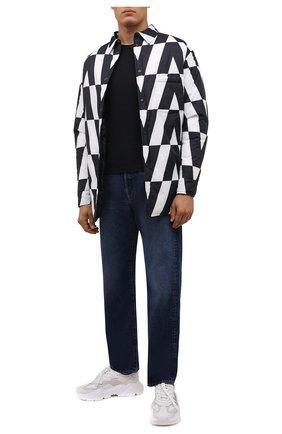 Мужские комбинированные кроссовки daymaster DOLCE & GABBANA белого цвета, арт. CS1941/AQ354 | Фото 2 (Материал внешний: Текстиль; Материал внутренний: Натуральная кожа; Подошва: Массивная; Стили: Гранж)