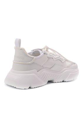 Мужские комбинированные кроссовки daymaster DOLCE & GABBANA белого цвета, арт. CS1941/AQ354 | Фото 4 (Материал внешний: Текстиль; Материал внутренний: Натуральная кожа; Стили: Гранж; Подошва: Массивная)