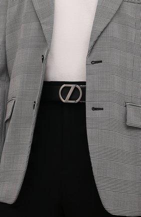 Мужской кожаный ремень Z ZEGNA темно-синего цвета, арт. BRIA1A/J1104C | Фото 2 (Случай: Формальный)