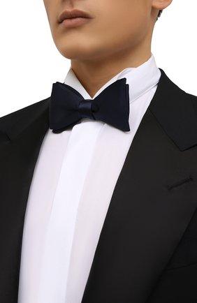 Мужской шелковый галстук-бабочка ERMENEGILDO ZEGNA темно-синего цвета, арт. Z2D60T/4SE | Фото 2 (Материал: Текстиль, Шелк)