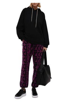 Женские джоггеры KENZO фиолетового цвета, арт. FB62PA7384MR   Фото 2 (Материал внешний: Синтетический материал; Длина (брюки, джинсы): Стандартные; Женское Кросс-КТ: Джоггеры - брюки; Силуэт Ж (брюки и джинсы): Джоггеры; Стили: Спорт-шик)