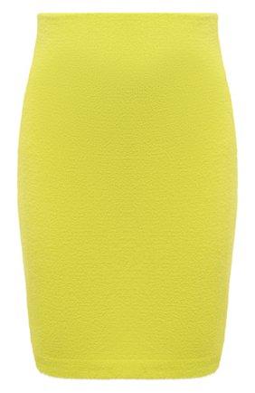 Женская юбка KENZO желтого цвета, арт. FB62JU6283RE | Фото 1 (Длина Ж (юбки, платья, шорты): Мини; Материал внешний: Синтетический материал; Женское Кросс-КТ: Юбка-одежда; Кросс-КТ: Трикотаж; Стили: Спорт-шик)
