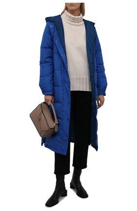 Женский двусторонний пуховик KENZO темно-синего цвета, арт. FB620U064562 | Фото 2 (Рукава: Длинные; Материал внешний: Синтетический материал; Материал подклада: Синтетический материал; Материал утеплителя: Пух и перо; Длина (верхняя одежда): Длинные; Стили: Спорт-шик; Кросс-КТ: Пуховик)