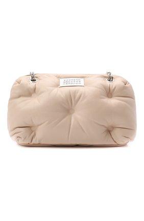 Женская сумка glam slam MAISON MARGIELA бежевого цвета, арт. S56WG0182/P4300 | Фото 1 (Ремень/цепочка: На ремешке; Размер: medium; Материал: Натуральная кожа; Сумки-технические: Сумки через плечо)