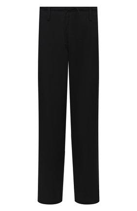 Мужские шерстяные брюки YOHJI YAMAMOTO черного цвета, арт. HX-P01-140 | Фото 1 (Длина (брюки, джинсы): Стандартные; Материал внешний: Шерсть; Стили: Минимализм; Случай: Повседневный)