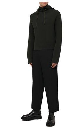 Мужские шерстяные брюки YOHJI YAMAMOTO черного цвета, арт. HX-P01-140 | Фото 2 (Длина (брюки, джинсы): Стандартные; Материал внешний: Шерсть; Стили: Минимализм; Случай: Повседневный)