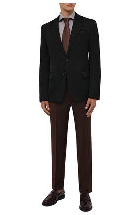 Мужская хлопковая сорочка LUIGI BORRELLI коричневого цвета, арт. SR4120/ACHILLE/ST/EV1/PC | Фото 2 (Рукава: Длинные; Длина (для топов): Стандартные; Материал внешний: Хлопок; Случай: Формальный; Принт: С принтом; Стили: Классический; Рубашки М: Super Slim Fit; Манжеты: На пуговицах; Воротник: Акула)