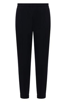 Мужские брюки DRIES VAN NOTEN темно-синего цвета, арт. 212-020927-3034 | Фото 1 (Материал внешний: Синтетический материал, Шерсть; Длина (брюки, джинсы): Стандартные; Стили: Кэжуэл; Случай: Повседневный)