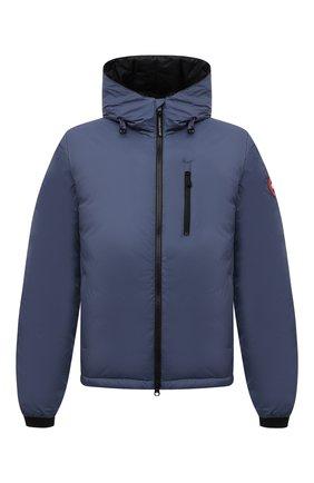 Мужская пуховая куртка lodge CANADA GOOSE синего цвета, арт. 5078M | Фото 1 (Материал внешний: Синтетический материал; Материал утеплителя: Пух и перо; Материал подклада: Синтетический материал; Кросс-КТ: Куртка; Мужское Кросс-КТ: пуховик-короткий; Стили: Спорт-шик; Длина (верхняя одежда): Короткие; Рукава: Длинные)