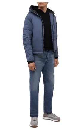 Мужская пуховая куртка lodge CANADA GOOSE синего цвета, арт. 5078M | Фото 2 (Материал внешний: Синтетический материал; Материал утеплителя: Пух и перо; Материал подклада: Синтетический материал; Кросс-КТ: Куртка; Мужское Кросс-КТ: пуховик-короткий; Стили: Спорт-шик; Длина (верхняя одежда): Короткие; Рукава: Длинные)