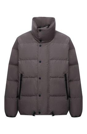Мужская пуховая куртка DSQUARED2 серого цвета, арт. S71AN0298/S53353 | Фото 1 (Материал внешний: Синтетический материал; Материал подклада: Синтетический материал; Рукава: Длинные; Материал утеплителя: Пух и перо; Длина (верхняя одежда): Короткие; Кросс-КТ: Куртка; Мужское Кросс-КТ: пуховик-короткий; Стили: Кэжуэл)