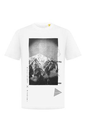 Мужская футболка 2 moncler 1952 moncler genius x and wander MONCLER GENIUS белого цвета, арт. G2-092-8C000-10-829FB | Фото 1 (Материал внешний: Хлопок; Длина (для топов): Стандартные; Рукава: Короткие; Принт: С принтом; Стили: Спорт-шик)