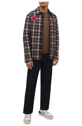 Мужская пуховая куртка shinagawa 2 moncler 1952 MONCLER GENIUS темно-коричневого цвета, арт. G2-092-1A000-26-54AXS | Фото 2 (Рукава: Длинные; Материал утеплителя: Пух и перо; Материал подклада: Синтетический материал; Материал внешний: Синтетический материал; Кросс-КТ: Куртка; Мужское Кросс-КТ: утепленные куртки; Стили: Гранж; Длина (верхняя одежда): Короткие)