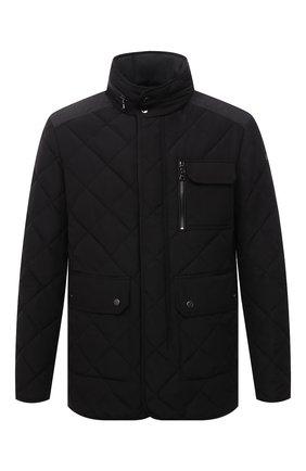 Мужская утепленная куртка PAUL&SHARK черного цвета, арт. 11312282/I6D   Фото 1 (Материал внешний: Синтетический материал; Материал подклада: Синтетический материал; Длина (верхняя одежда): Короткие; Рукава: Длинные; Кросс-КТ: Куртка; Мужское Кросс-КТ: утепленные куртки; Стили: Классический)
