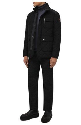 Мужская утепленная куртка PAUL&SHARK черного цвета, арт. 11312282/I6D   Фото 2 (Материал внешний: Синтетический материал; Материал подклада: Синтетический материал; Длина (верхняя одежда): Короткие; Рукава: Длинные; Кросс-КТ: Куртка; Мужское Кросс-КТ: утепленные куртки; Стили: Классический)