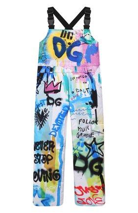 Детские лыжный комбинезон DOLCE & GABBANA разноцветного цвета, арт. L4JPDG/G7A6V/8-14   Фото 1 (Материал подклада: Синтетический материал; Материал внешний: Синтетический материал; Мальчики Кросс-КТ: Комбинезон-верхняя одежда)