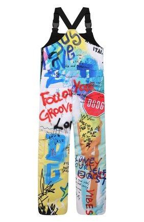 Детские лыжный комбинезон DOLCE & GABBANA разноцветного цвета, арт. L4JPDG/G7A6V/8-14   Фото 2 (Материал подклада: Синтетический материал; Материал внешний: Синтетический материал; Мальчики Кросс-КТ: Комбинезон-верхняя одежда)