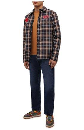 Мужская хлопковая футболка KENZO оранжевого цвета, арт. FB55TS0034SA | Фото 2 (Материал внешний: Хлопок; Принт: Без принта; Рукава: Короткие; Стили: Кэжуэл; Длина (для топов): Стандартные)