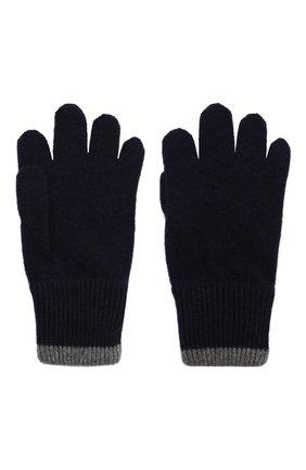 Детские кашемировые перчатки BRUNELLO CUCINELLI темно-синего цвета, арт. B22M90100B | Фото 2 (Материал: Шерсть, Кашемир)