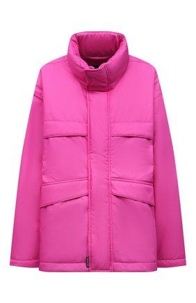 Женская куртка BALENCIAGA розового цвета, арт. 626576/TI060   Фото 1 (Материал внешний: Синтетический материал; Длина (верхняя одежда): До середины бедра; Материал подклада: Синтетический материал; Рукава: Длинные; Кросс-КТ: Куртка; Стили: Спорт-шик)