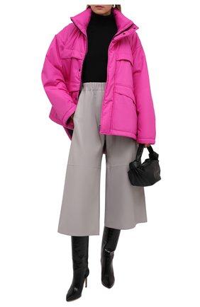 Женская куртка BALENCIAGA розового цвета, арт. 626576/TI060   Фото 2 (Материал внешний: Синтетический материал; Длина (верхняя одежда): До середины бедра; Материал подклада: Синтетический материал; Рукава: Длинные; Кросс-КТ: Куртка; Стили: Спорт-шик)