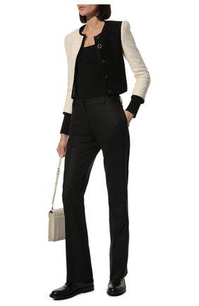 Женские кожаные ботинки SAINT LAURENT черного цвета, арт. 584699/00ENN | Фото 2 (Материал внутренний: Натуральная кожа; Подошва: Платформа; Каблук высота: Низкий; Женское Кросс-КТ: Военные ботинки)