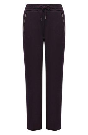 Женские хлопковые брюки DRIES VAN NOTEN фиолетового цвета, арт. 212-011122-3612 | Фото 1 (Длина (брюки, джинсы): Удлиненные; Материал внешний: Хлопок; Женское Кросс-КТ: Брюки-одежда; Стили: Спорт-шик; Силуэт Ж (брюки и джинсы): Прямые)
